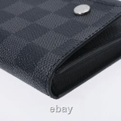 LOUIS VUITTON Damier Graffit Compact Modular Black / grey N63083 800000095307000
