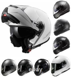 LS2 FF325 Strobe Plain Modular Flip up Front Motorcycle Motorbike Road Helmet