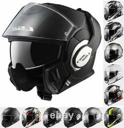 Ls2 Ff399 Valiant Modular Flip Front Full Face Motorcycle Motorbike Crash Helmet