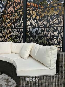 Modular Metal Garden Screens (Design Zebra)