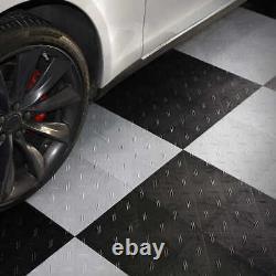 MotoFloor Modular Garage Flooring Tiles 48 sq ft per box (B&W, B&Gray or Gray)