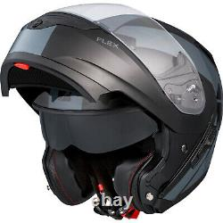 Motorcycle Helmet Modular Flip Up CKX Flex RSV Chicane XSmall Black Grey