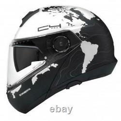 Motorcycle Helmet Modular SCHUBERTH C4 Pro Black/Grey / Matt White Magnitude