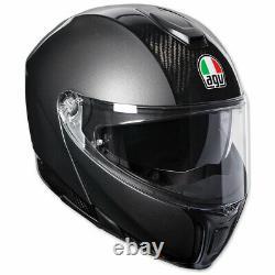 New AGV Sport Modular Carbon Full-Face Helmet S Black/Grey #1201O4IY002S