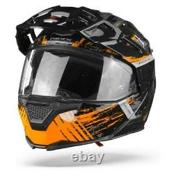 Nexx X. Vilijord Mudvalley Black Grey Orange Modular Helmet
