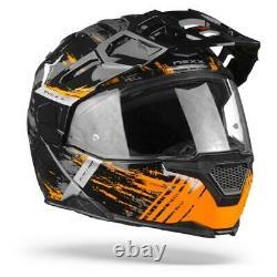 Nexx X. Vilijord Mudvalley Black Grey Orange Modular Motorcycle Helmet, New