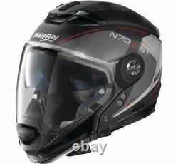Nolan Black/Grey/Red S Modular Crossover N70-2 GT Lakota Helmet 393658