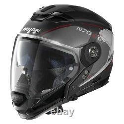 Nolan Helmets 393662 N70-2 GT Lakota 2X-Large Black/Gray/Red Modular Helmet