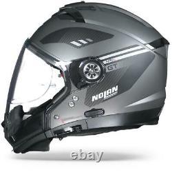 Nolan N70-2 GT Bellavista 21 Flat Lava Grey Modular Crossover Motorcycle Helmet