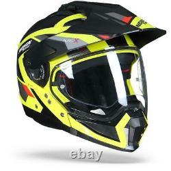 Nolan N70-2 X Grandes Alpes 27 Black Yellow Grey Modular Adventure Helmet