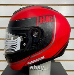 Open Box HJC i90 Davan Modular Motorcycle Helmet Black/Grey/Red Size Large