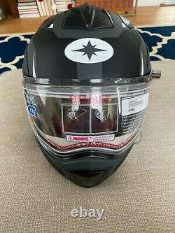 Polaris Modular Snowmobile Helmet 2.0 Black and Grey XXL