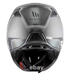 SFT Black & Gray Modular Convertible Matt Full Face Safety Helmet ECE Standard