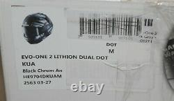 SHARK Helmets EVO-ONE 2 Lithion Dual Modular Helmet Medium Black/Chrome