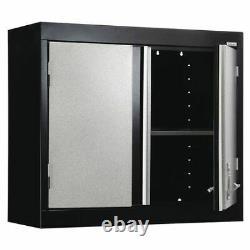 Sandusky Gw1f301226-M9 Modular Wall Cabinet, 30 In. W, Gray/Black