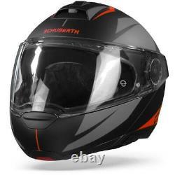 Schuberth C4 Pro Merak Black Red Modular Helmet Motorcycle Helmet New! Free