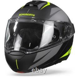 Schuberth C4 Pro Merak Black Yellow Modular Helmet Motorcycle Helmet New! F