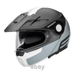 Schuberth E1 Cut Grey Adventure Flip Up Front Modular Motorcycle Helmet