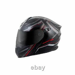 Scorpion EXO-GT920 Satellite Modular Motorcycle Helmet Red/Black/Gray
