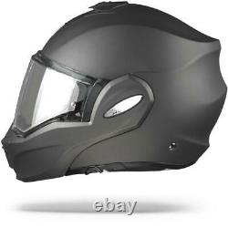 Scorpion EXO-TECH Solid Anthracite Black Modular Motorcycle Helmet, Flip-Up, New