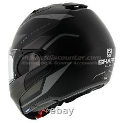 Shark EVO ES Yari Matt Black Grey, Motorcycle Helmet, Fast'N Free Ship, 2020