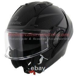Shark EVO-GT Encke Matt Black Anthracite Motorcycle Flip Up Helmet Free Shipping
