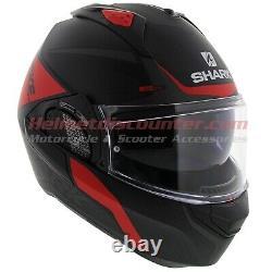 Shark EVO-GT Encke Matt Black Red Grey Motorcycle Flip Up Helmet Free Shipping