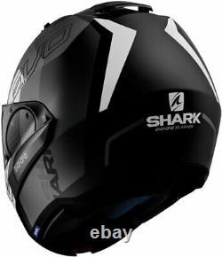 Shark EVO-ONE 2 SLASHER Modular Flip-Up Helmet -Matte Black/Grey/White -Medium