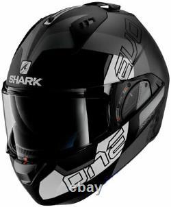 Shark EVO-ONE 2 SLASHER -Modular Helmet -Matte Black/Grey/White -Shark King Size
