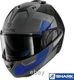 Shark EVO-ONE 2 SLASHER Modular Helmet -Matte Dark Grey/Black -Shark King Size
