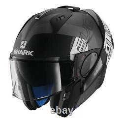 Shark Evo-One-2 Slasher Matte Black-Grey-White Helmet
