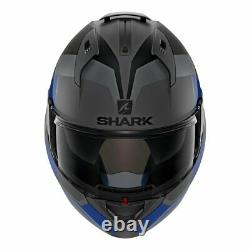 Shark Helmets EVO-ONE 2 Slasher Matte Dark Grey/Black/Blue Size L (59-60 cm)