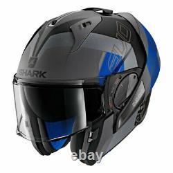 Shark Helmets EVO-ONE 2 Slasher Matte Dark Grey/Black/Blue Size M (57-58 cm)