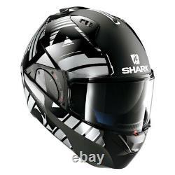 Shark Helmets Evo-One 2 Lithion Dual Large Black/Chrome/Gray Modular Helmet