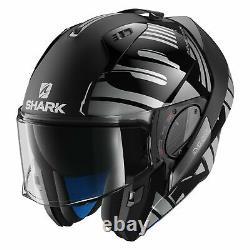 Shark Helmets Evo-One 2 Lithion Dual X-Large Black/Chrome/Gray Modular Helmet