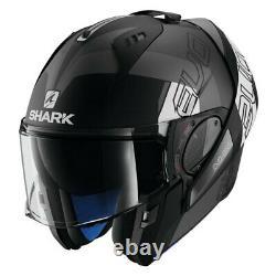 Shark Helmets Evo-One 2 Slasher Matte King Size Black/Gray/White Modular Helmet