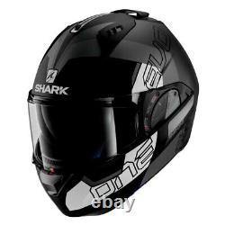 Shark Helmets Evo-One 2 Slasher Matte X-Large Black/Gray/White Modular Helmet