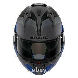 Shark Helmets Evo-One 2 Slasher X-Large Dark Gray/Black/Blue Modular Helmet
