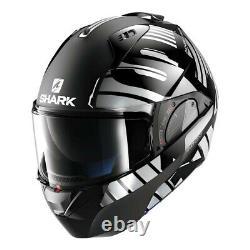 Shark Modular Helmet EVO-ONE 2 Lithion Dual Black/Chrome/Dark Grey
