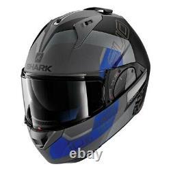 Shark Modular Helmet EVO-ONE 2 Slasher Matte Dark Grey/Black/Blue