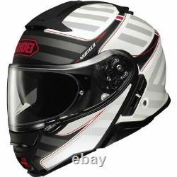 Shoei Neotec II Splicer Modular Helmet Matte White/Black/Grey, All Sizes