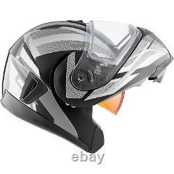 Snowmobile Helmet Electric Modular CKX Tranz 1.5 AMS Warrior Gray Black Medium