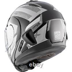 Snowmobile Helmet Electric Modular CKX Tranz 1.5 AMS Warrior Gray Black Small