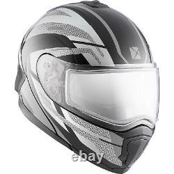Snowmobile Helmet Electric Modular CKX Tranz 1.5 AMS Warrior Gray Black XSmall
