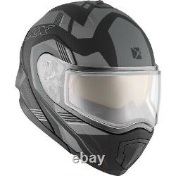 Snowmobile Helmet Electric Modular CKX Tranz RSV 1.5 AMS Omeg Mat Grey XSmall