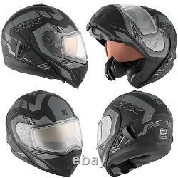 Snowmobile Helmet Modular Flip Up CKX Tranz RSV 1.5 AMS Omeg Mat Grey 2XLarge