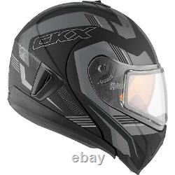Snowmobile Helmet Modular Flip Up CKX Tranz RSV 1.5 AMS Omeg Mat Grey XLarge