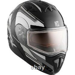 Snowmobile Helmet Modular Flip Up CKX Tranz RSV Offence Grey Black Medium