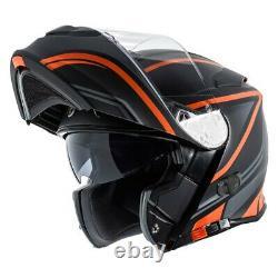 T-28B Vapor 2X-Large Black/Orange/Gray Modular Helmet w Communication System