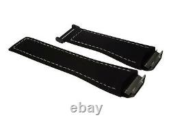 TAG Heuer leather/rubber Strap grey/black for Connected Modular 45 with clasp